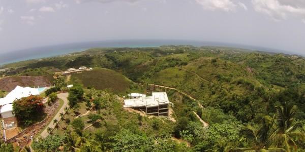vue aérienne république dominicaine